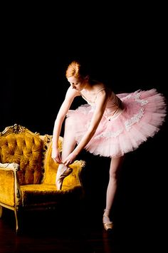 I need to happen upon a chair of this magnitude... love the bold chair against the airy dancer.