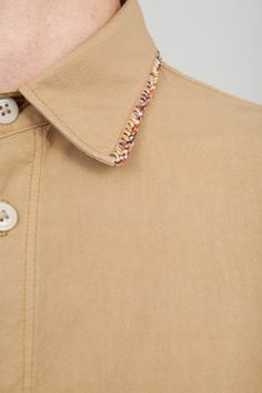 Inspiration ~ You rarely see only one edge of a collar trimmed.  I really like this subtle detailing.