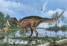 Baryonyx snaching prey from the air.
