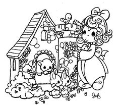 628 Best Coloring pages: Precious Moments images