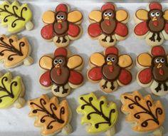 Turkeys and Leaf Sugar Cookies