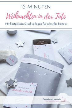 weihnachten in der tte 15 minuten wei - Christmas And New Year, Christmas Diy, Xmas, 15min Weihnachten, Happy Life, Stampin Up, Diy And Crafts, Birthday Gifts, Cards Against Humanity