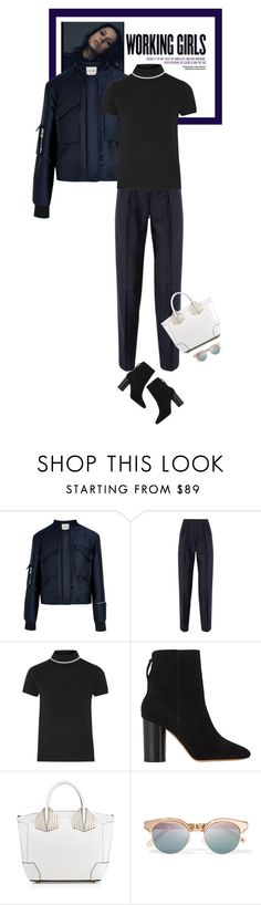 """Thursdays - 24.03.16"" by matilda66 ❤ liked on Polyvore featuring Tod's, PALLAS, Totême, Isabel Marant, Christian Louboutin and Le Specs"