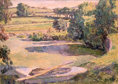 The Farm Pond, Duncan Grant (1885–1978), Aberdeen Art Gallery & Museums