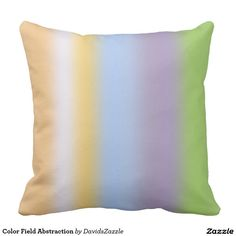 Color Field Abstraction Square Pillow  This design is available on many more products! Go to my Zazzle products page and type in the name of the design to see them all!  #color #abstract #art #line #stripe #purple #orange #green #white #abstraction #abstract #minimal #expressionism #minimalism #expressionism #soothing #calm #peace #joy #peaceful #sooth #relax #vibrant #color #zazzle #buy #sale #for #cube #pouf #throw #pillow #home #decor #living #room #den #bedroom #room #decorate
