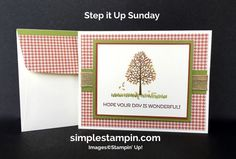 Stampin' Up! Fall Card, Totally Trees Photopolymer, Cottage Greetings,Burlap…