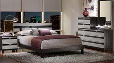 Gardenia Silver 5 Pc Queen Platform Bedroom