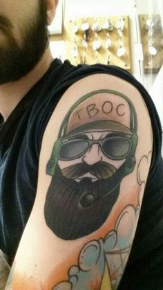 Tactical Beard Owners Club american traditional. I wish I knew the artist or whose arm this was. Beard on brothers.