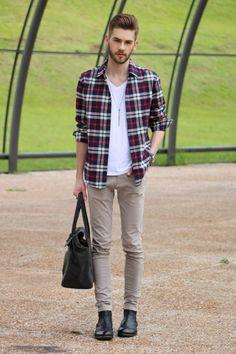 blog lincooln, lincoln briniak, lincoln, ootd, style, fashion, outfit, male, look do dia, moda masculina, bota, cabelo masculino, chelsea boots, botas, bota masculina, camisa xadrez, xadrez, camisa, bolsa, osklen, bolsa masculina
