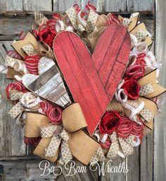 Valentine Wreath Valentine Decor Valentine Door by BaBamWreaths