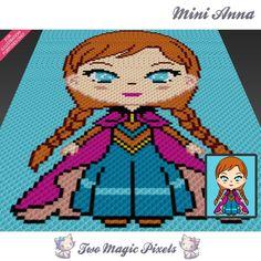 Mini Anna Frozen(sc tss c2c cross stitch knitting) | Craftsy