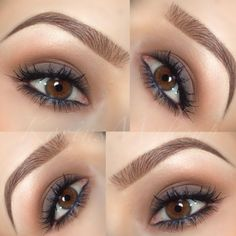 brown soft smokey eye
