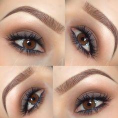 brown soft smokey eye