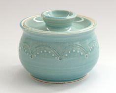 Sugar Bowl - Jar - Aqua. $36.00, via Etsy.