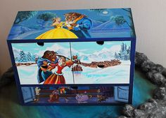 CUSTOM Hand painted Beauty and the Beast Big box, Mini Commode, Jewelry box, Keepsake Box, Mini Сhest of drawers, Makeup Container, Disney World, Art, JaN:)Art #Custom order #Hand painted #Hand painted box #Hand painted gift #Hand painted furniture #Beauty and the Beast #Big box #Mini Commode #Jewelry box #Keepsake Box #Mini Сhest of drawers #Makeup Container #Apothecary Cabinet #Trinket Storage #Tea Box #Desktop Organizer #Acrylic painting #Disney World #Gift #Art #JaN:)Art #SweetenYourHome
