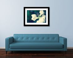 White Flower Photograph Botanical Wall Art by LegendsofDarkness