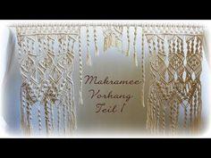 Makramee Vorhang Teil 1 * DIY * Macrame Curtain [eng sub] - YouTube