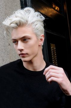damplaundry:  Lucky Blue Smith at MFW F/W 2015 by Sam Cosmai