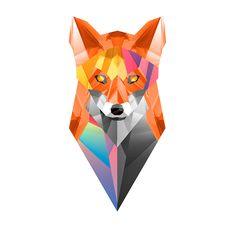 Fox - Geometric style illustrations - by New York based designer and illustrator Justin Maller