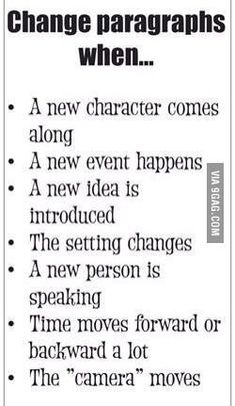you need some help while writing stuff Help students choose when to change paragraphs.Help students choose when to change paragraphs. Creative Writing Prompts, Book Writing Tips, Writing Words, Writing Resources, Essay Writing, Writing Help, Fiction Writing, Writing Outline, Writing Rubrics