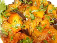 Eggplant Stewed with Potatoes   Greek Food