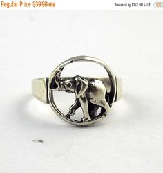 ThanksGiving Sale 1 Pcs Elephant Look Design Style Ring 925 Sterling Silver High Polished Black Oxidize Handmade Unique Vintage Silver Ring by UGCHONGKONG on Etsy