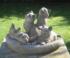 Kitten Group Cat Statue PERFECT FOR HONORING THE STILLBORNS & DHARMA