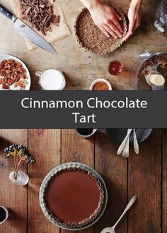 Sweet and satisfying, this Cinnamon Chocolate Tart, featuring delicious Diamond pecans, is sure to disappear quickly from your buffet table at your next dinner party.