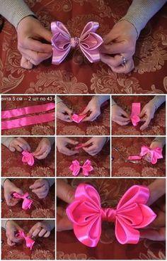 Cómo hacer lazo de cinta de raso para el pelo | UsefulDIY.com