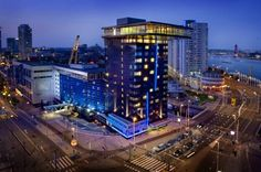 Inntel Hotels Rotterdam Centre Rotterdam Inntel Hotels Rotterdam Centre combines free Wi-Fi and free entry to an indoor swimming pool with an ideal location in the city centre at the foot of the Erasmus Bridge next to the River Maas, where there is access to a private jetty which allows...