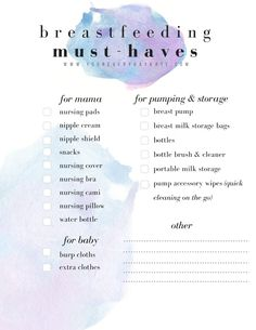 Breastfeeding Essentials Checklist - New Mama's Guide To Breastfeeding FREE Checklist and 50 Resources for New Moms Or Moms New To Breastfeeding // EVERYDAY KATE BLOG #motherhood #breastfeeding #freebie