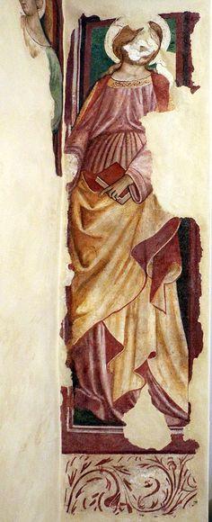 Giacomo di Nicola da Recanati (doc. 1433-1466) - Edicola con Dio benedicente tra i SS. Domenico e Pietro martire, dettaglio - 1415-50 - Pinacoteca Comunale di Recanati