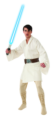 Luke Skywalker Classic Adult Star Wars Costume - 'I am a Jedi, like my Father before me.' Feel the force within you when you wear this awesome Luke Skywalker costume. This is the officially licensed Jedi costume from Disney Star Wars. This costume comes with tunic, pants and belt. Perfect for all year long, think Halloween, comic con or new movie premier? #yyc #Calgary #costume #StarWars #LukeSkywalker