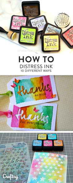 The beauty of Distress Inks is their versatility! There are so many ways to use these amazing inks. Learn how to use Distress Ink 10 ways on Craftsy!