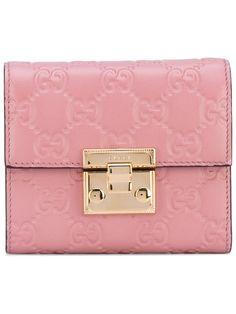 GUCCI GG Signature padlock wallet. #gucci #wallet