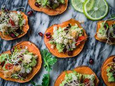 Meksikolaiset bataatticrostinit (V, GF) ja tulevan vuoden ruokatrendejä