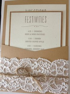 Homemade wedding invites, rustic wedding invites