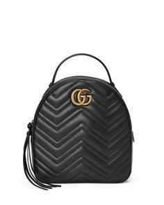 GG+Marmont+Quilted+Leather+Backpack+by+Gucci+at+Bergdorf+Goodman.