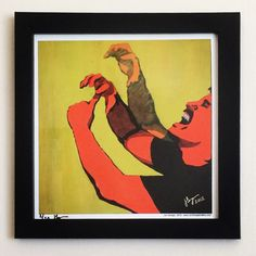 """Limited edition of 20. Some of these left! Gallery: VCR pause series """"ASL:Champ"""" (2012) 12 x 12 inch, fine art giclee on high quality archival paper with frame: satin black, 14 x 14 and regular glass. Signed and numbered by Jon Savage --------------------------------------- ** while stocks last ** http://JonSavageGallery.com/products/aslchamp/"""
