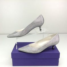 c93cedfa4449 Stuart Weitzman The Poco  Pump Silver  women Work Week