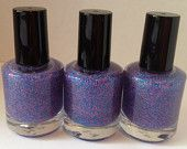 Cotton Candy -  Pink And Blue Matte Glitter Nail Polish 15mL