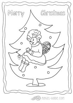 Angel Christmas Coloring Page