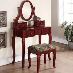 Chappel 2 Door Wardrobe & Reviews | Birch Lane Mirrored Vanity Table, Make Up Desk Vanity, Vanity Set With Mirror, Oval Mirror, Table Mirror, Wood Makeup Vanity, Vanity Decor, Makeup Drawer, Contemporary Vanity