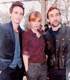 Eddie Redmayne, Clemence Poésy and Joseph Mawle from the 2012 TV miniseries, 'Birdsong'.