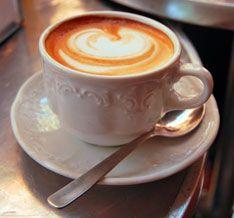 CappuccinoL coffee in piazza square.