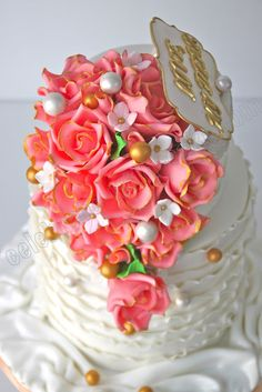 This cake is almost too delightful! Love it! Celebrate with Cake!