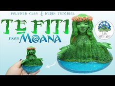 TE FITI from Moana - Disney Inspired - Earth Goddess - Polymer Clay & Resin Tutorial - YouTube