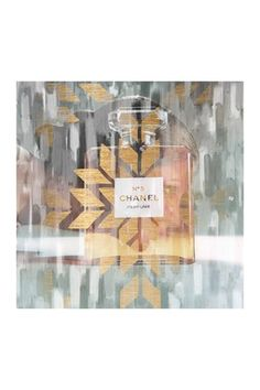 Hint of Chanel (Canvas) from Marmont Hill: Art on Aluminum, Wood, Canvas & More on Gilt Canvas Art Prints, Canvas Wall Art, Chanel Canvas, Chanel Perfume, Chanel Chanel, Fashion Wall Art, Wood Canvas, Touch Of Gold, Fine Art