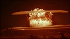 Castle Bravo, the first American test of a dry fuel hydrogen bomb, detonated at Bikini Atoll, Marshall Islands, March 1, 1954.