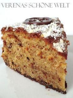 Nut cake: 200 g butter 200 g sugar 5 eggs 200 g flour 1 packet of baking powder 2 .- Nusskuchen: 200 g Butter 200 g Zucker 5 Eier 200 g Mehl 1 Päckchen Backpulver Nut cake: 200 g butter 200 g sugar 5 eggs 200 g flour … - Cupcakes, Cake Cookies, Cupcake Cakes, No Bake Desserts, Dessert Recipes, German Baking, German Cake, Austrian Recipes, Sweet Bakery